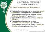 2 definition et types de formation suite