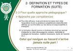 2 definition et types de formation suite7