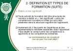 2 definition et types de formation suite8