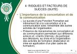 4 risques et facteurs de succes suite15