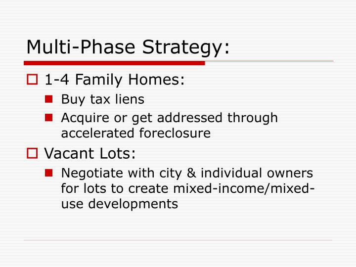 Multi-Phase Strategy: