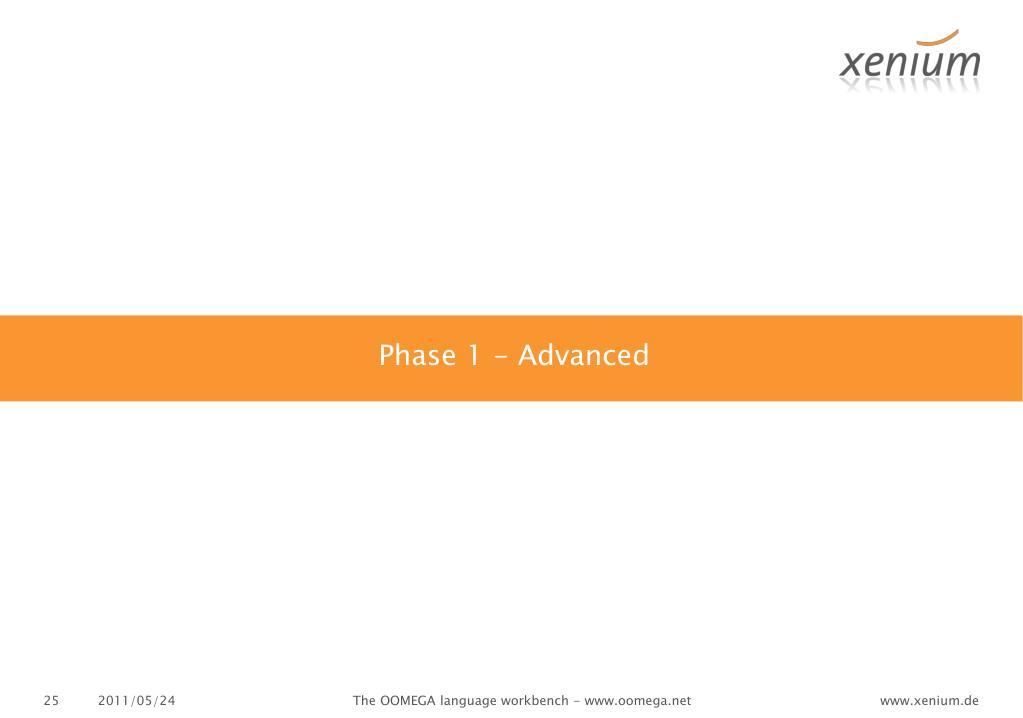 Phase 1 -