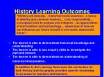 history learning outcomes