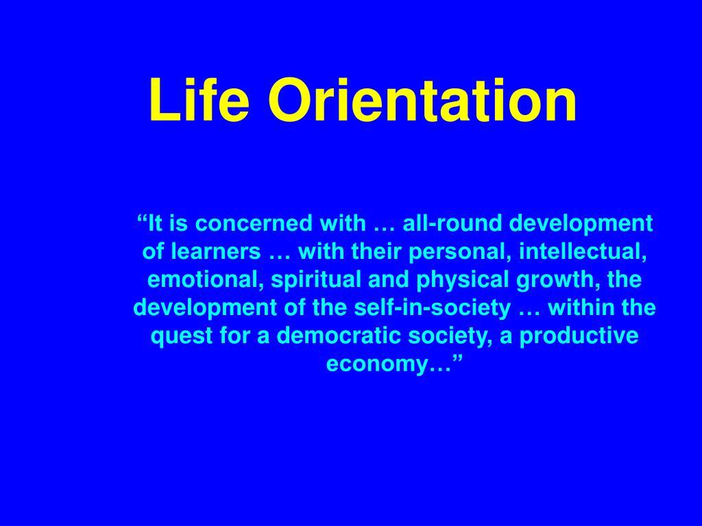 Life Orientation