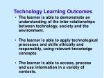 technology learning outcomes