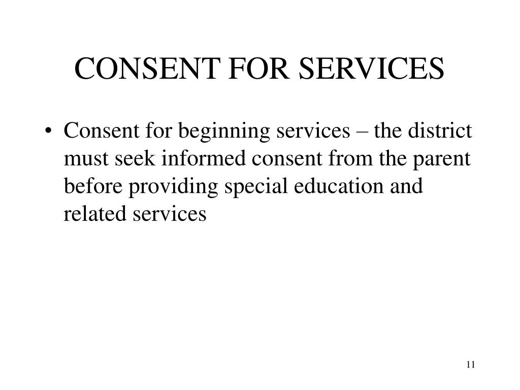CONSENT FOR SERVICES
