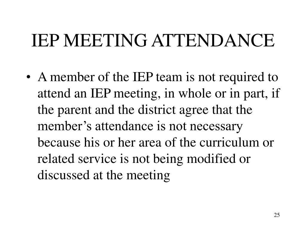 IEP MEETING ATTENDANCE