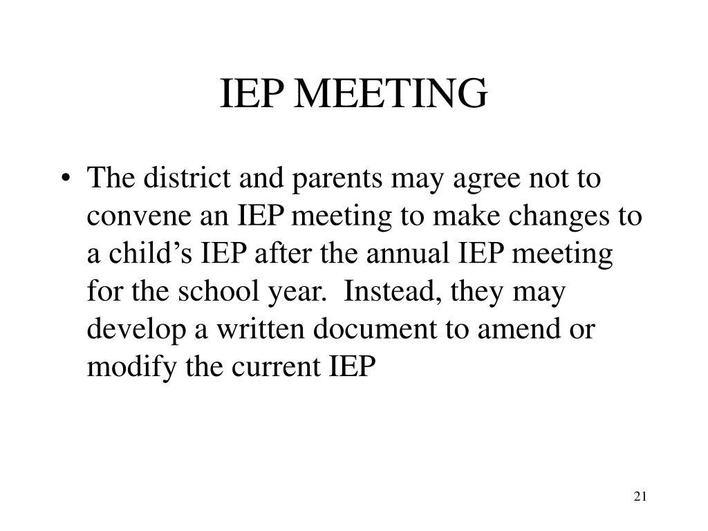 IEP MEETING