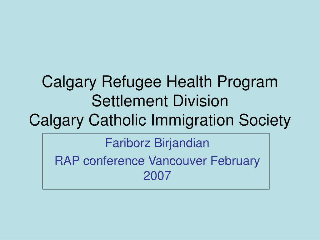 Calgary Refugee Health Program