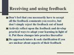 receiving and using feedback11