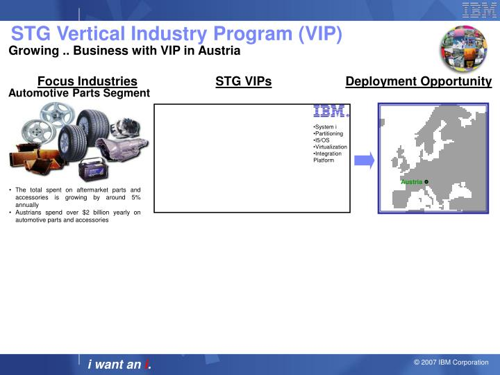 STG Vertical Industry Program (VIP)