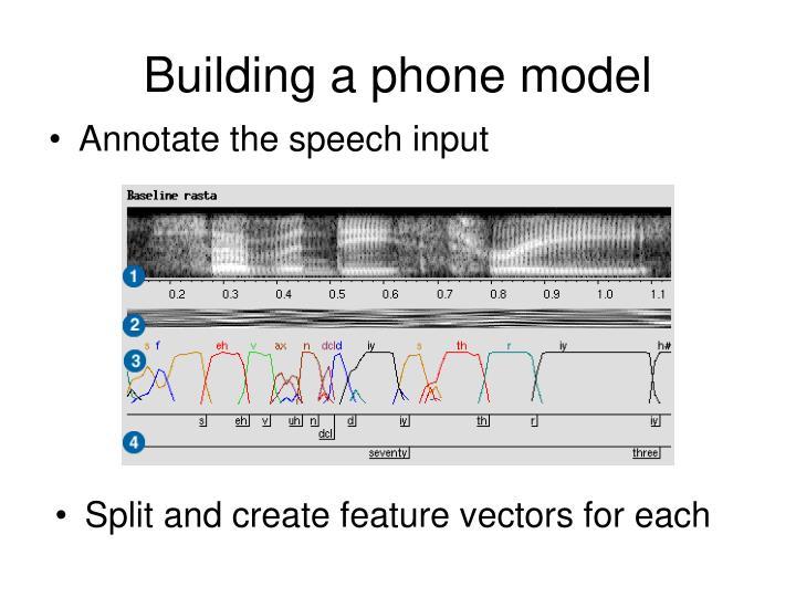 Building a phone model