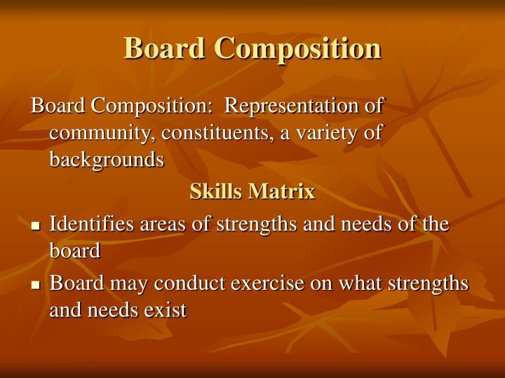 Board Composition
