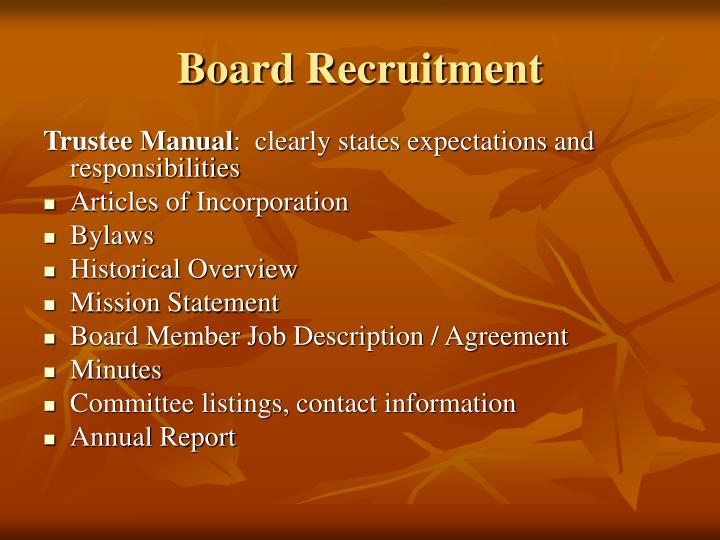 Board Recruitment
