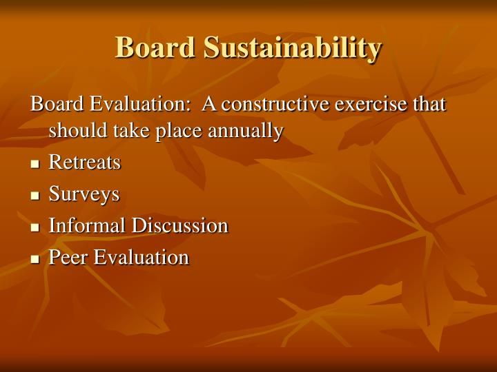 Board Sustainability