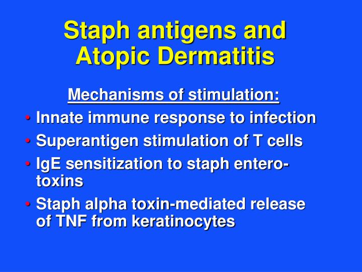 Staph antigens and