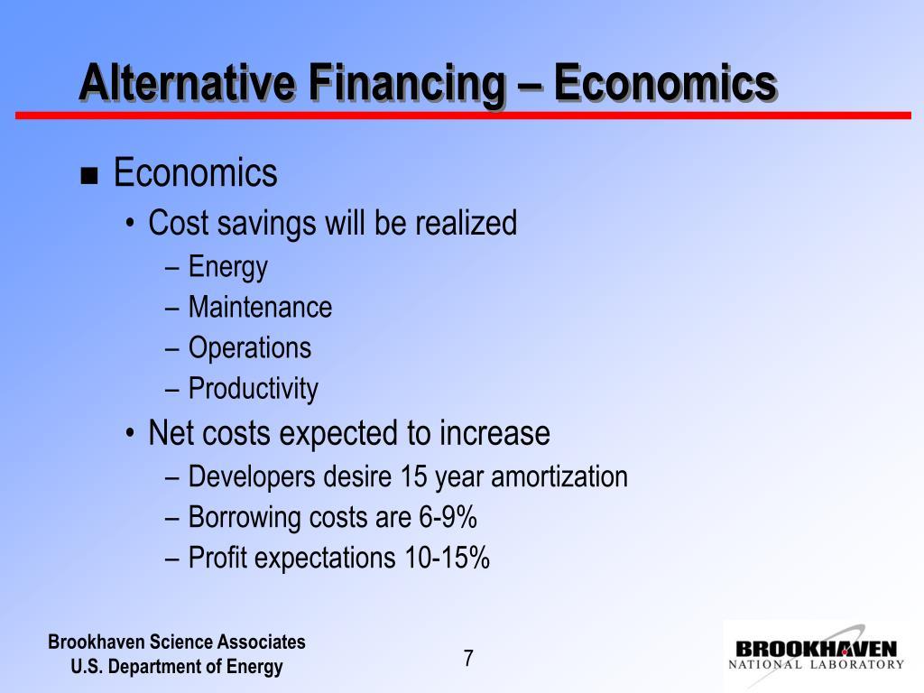 Alternative Financing – Economics