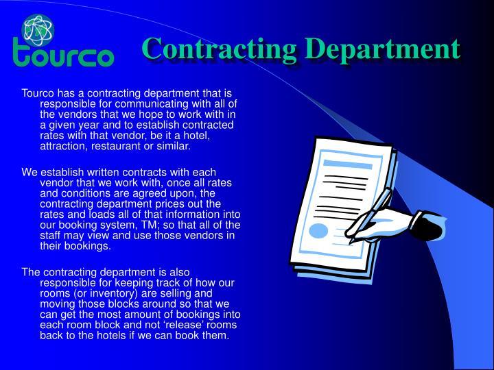 Contracting Department