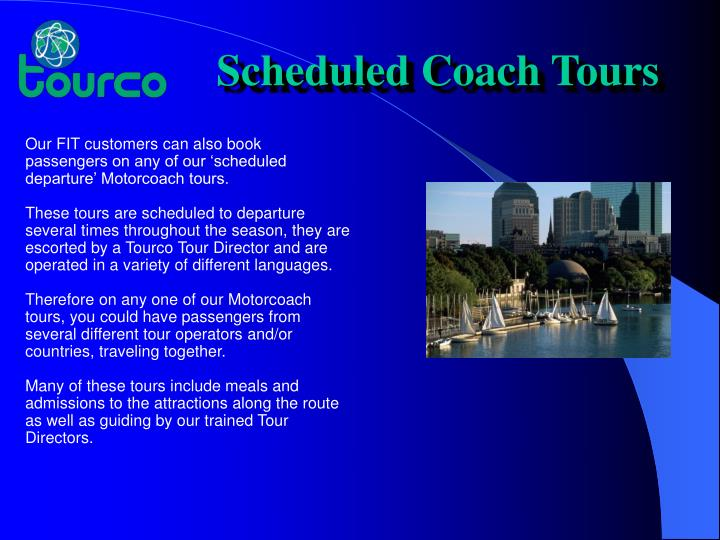 Scheduled Coach Tours