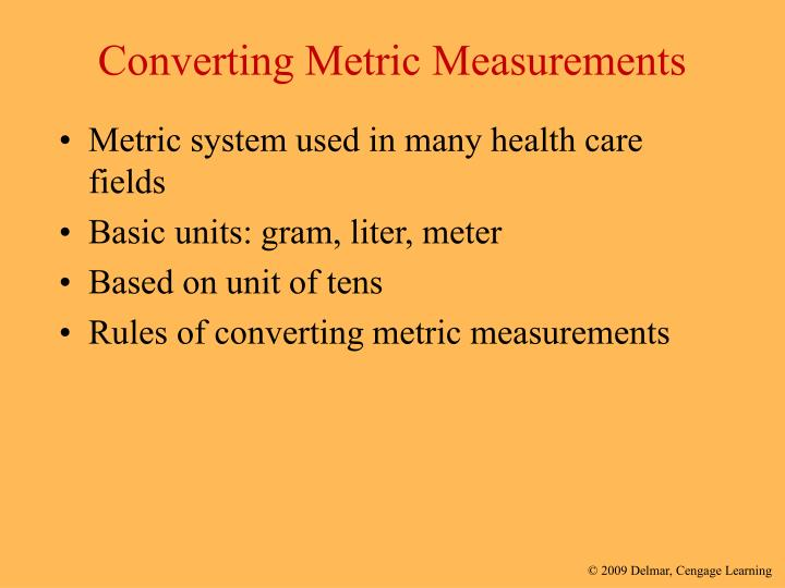 Converting Metric Measurements