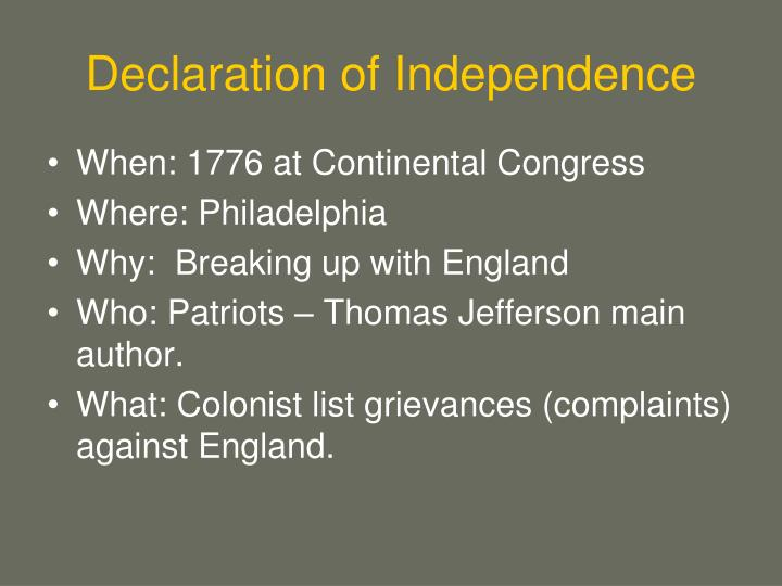 a highlight of the impact of the 1776 declaration of independence Drafting the declaration the declaration of independence that the continental congress adopted on july 4, 1776, was drafted by a slaveholder in a slaveholding country.