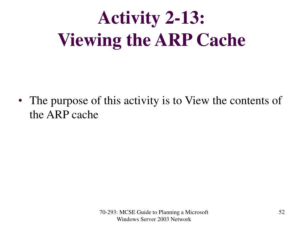 Activity 2-13:
