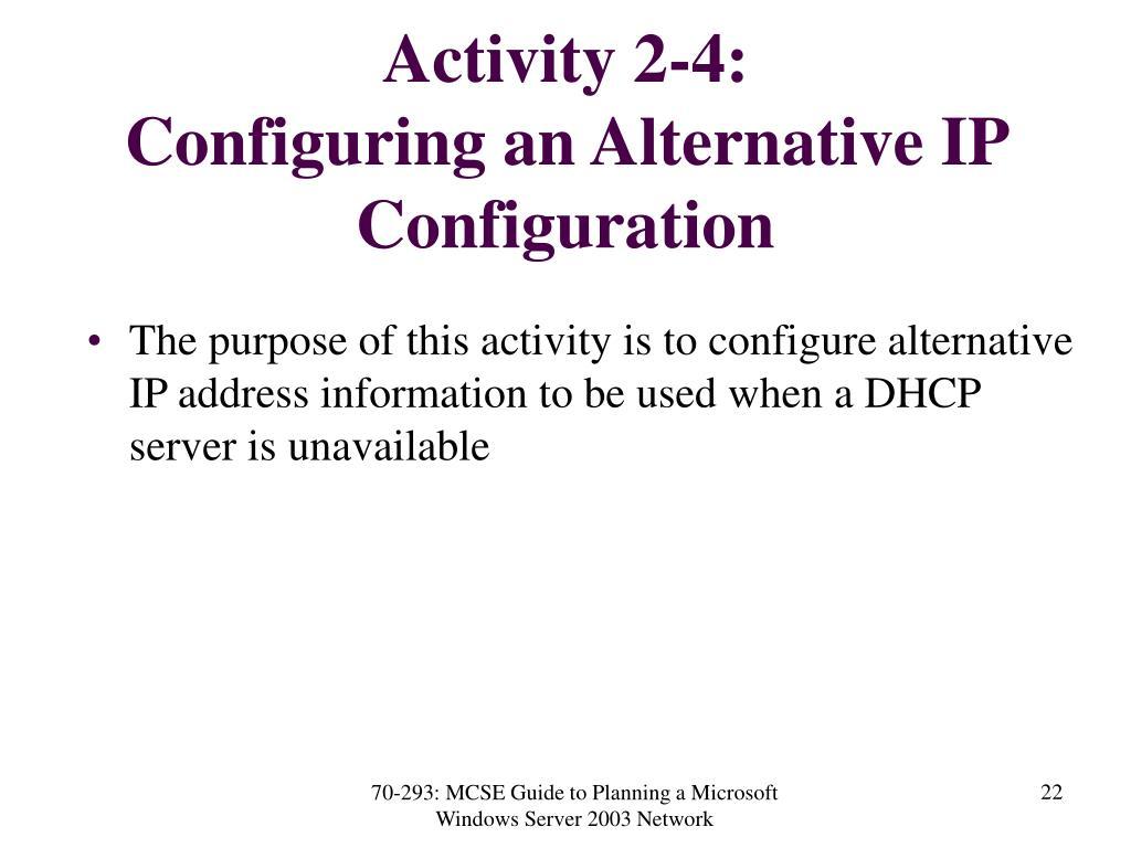 Activity 2-4: