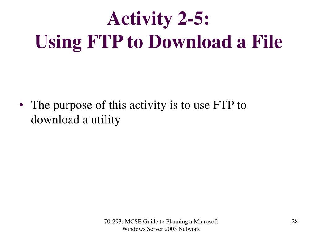 Activity 2-5:
