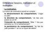 diff rencier besoins motivation et motivation3