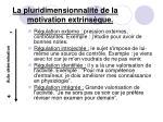 la pluridimensionnalit de la motivation extrins que