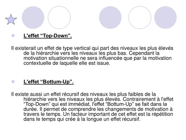 """L'effet """"Top-Down""""."""