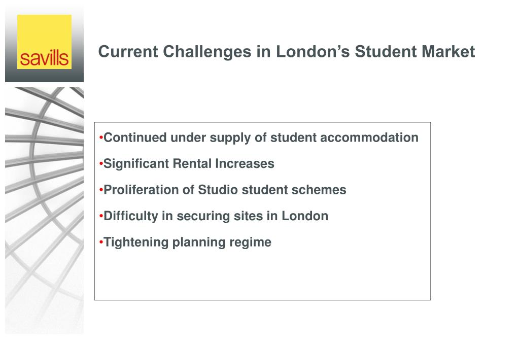 Continued under supply of student accommodation