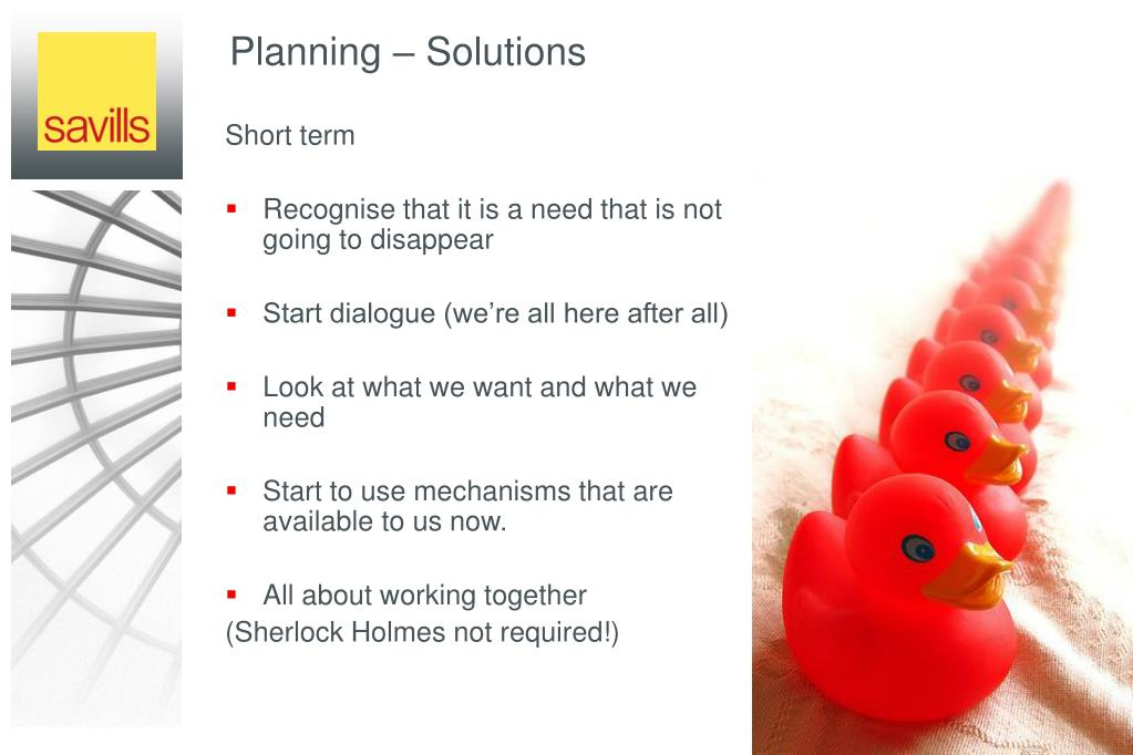 Planning – Solutions