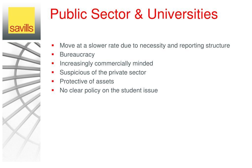 Public Sector & Universities