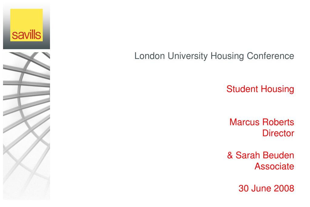London University Housing Conference