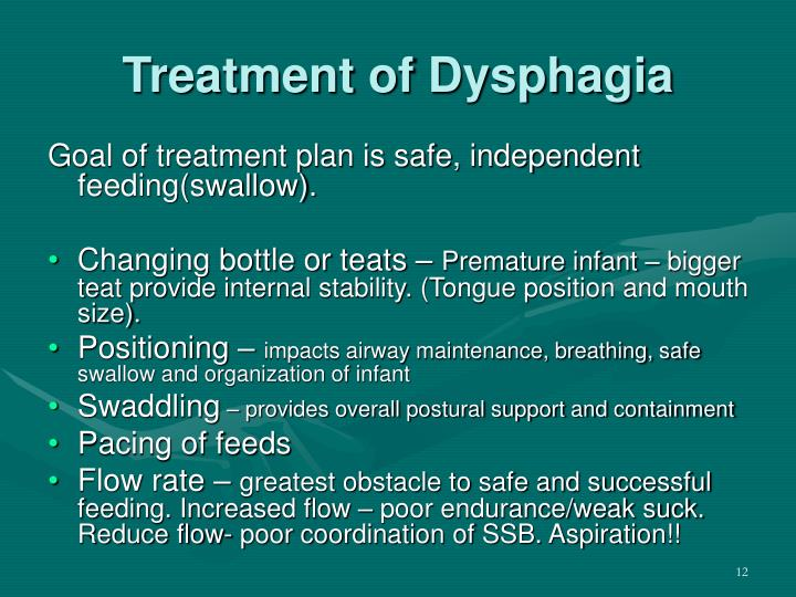 Treatment of Dysphagia