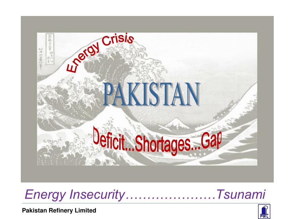 Energy Insecurity…………………Tsunami