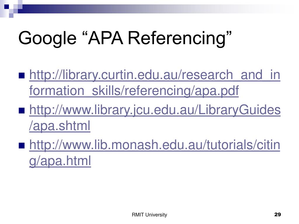 "Google ""APA Referencing"""