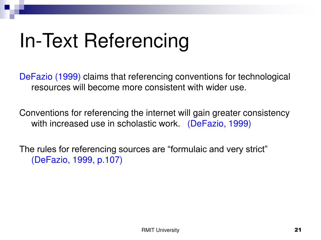 In-Text Referencing