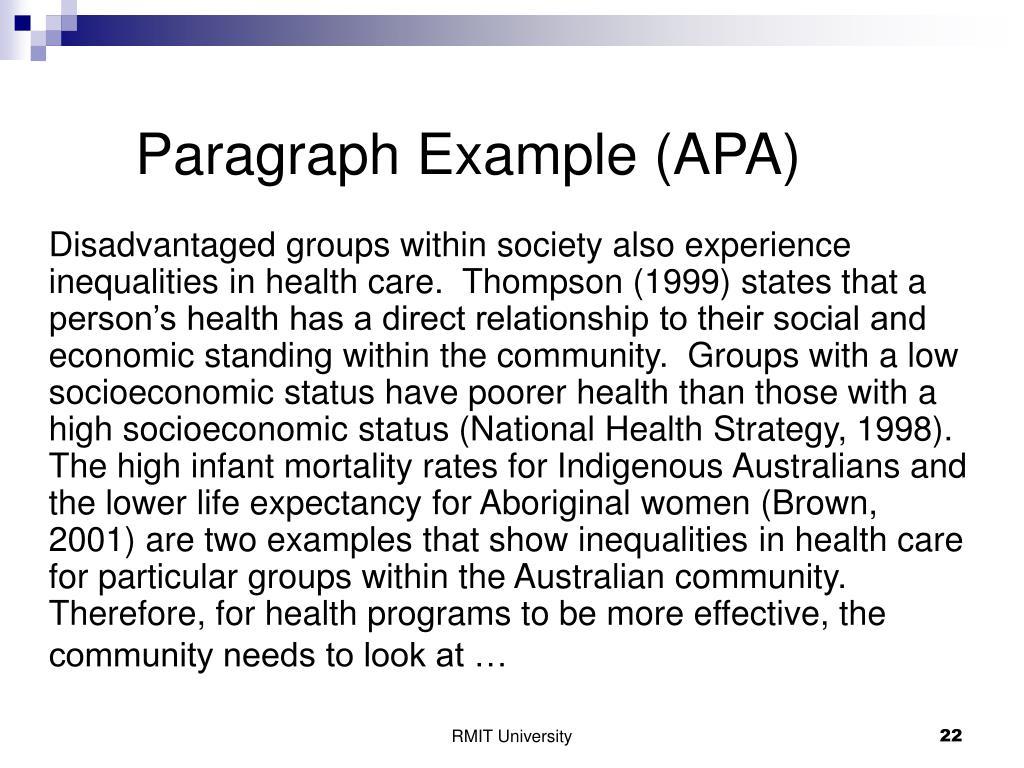 Paragraph Example (APA)