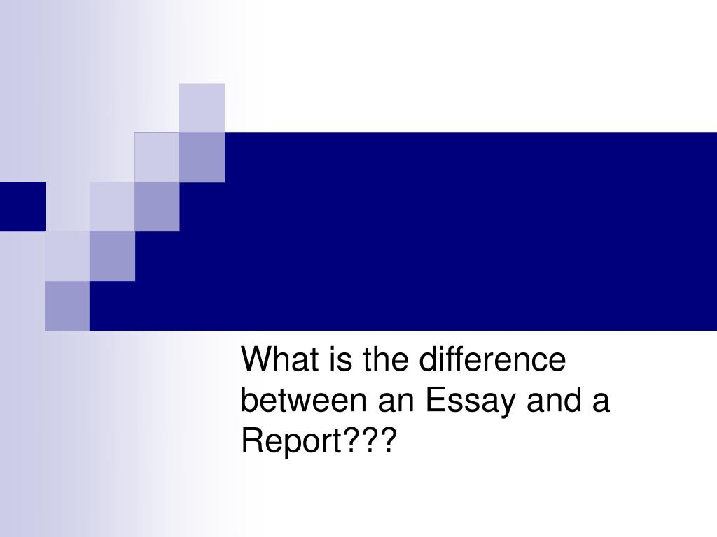 What is the difference between an Essay and a Report???