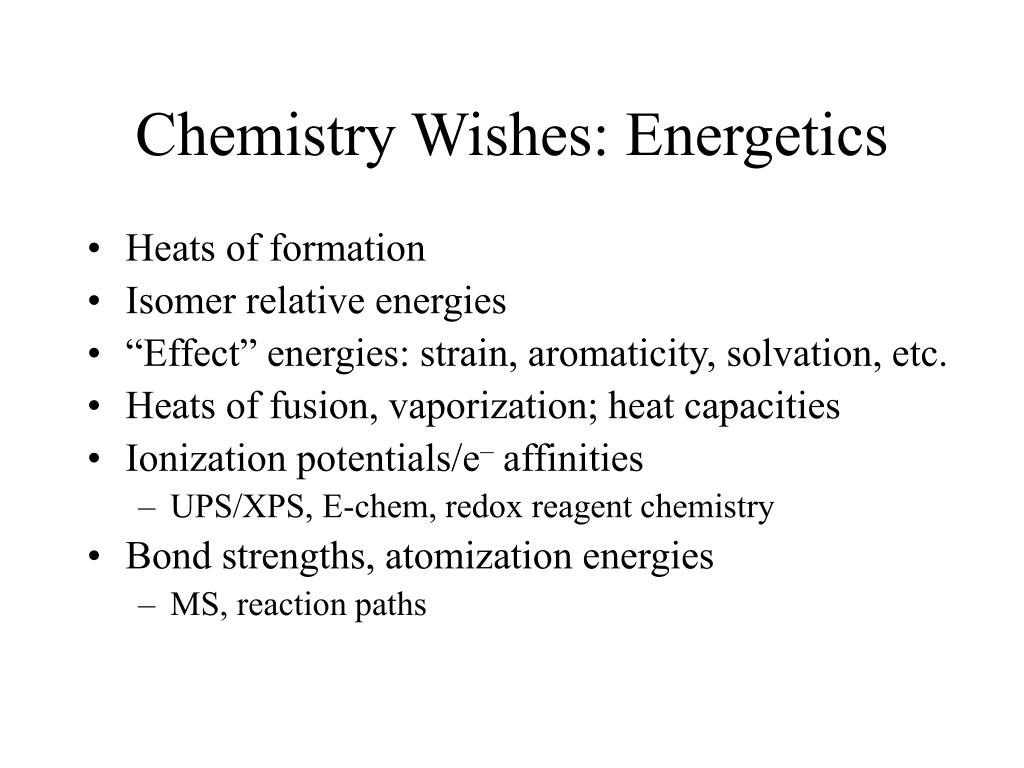 Chemistry Wishes: Energetics