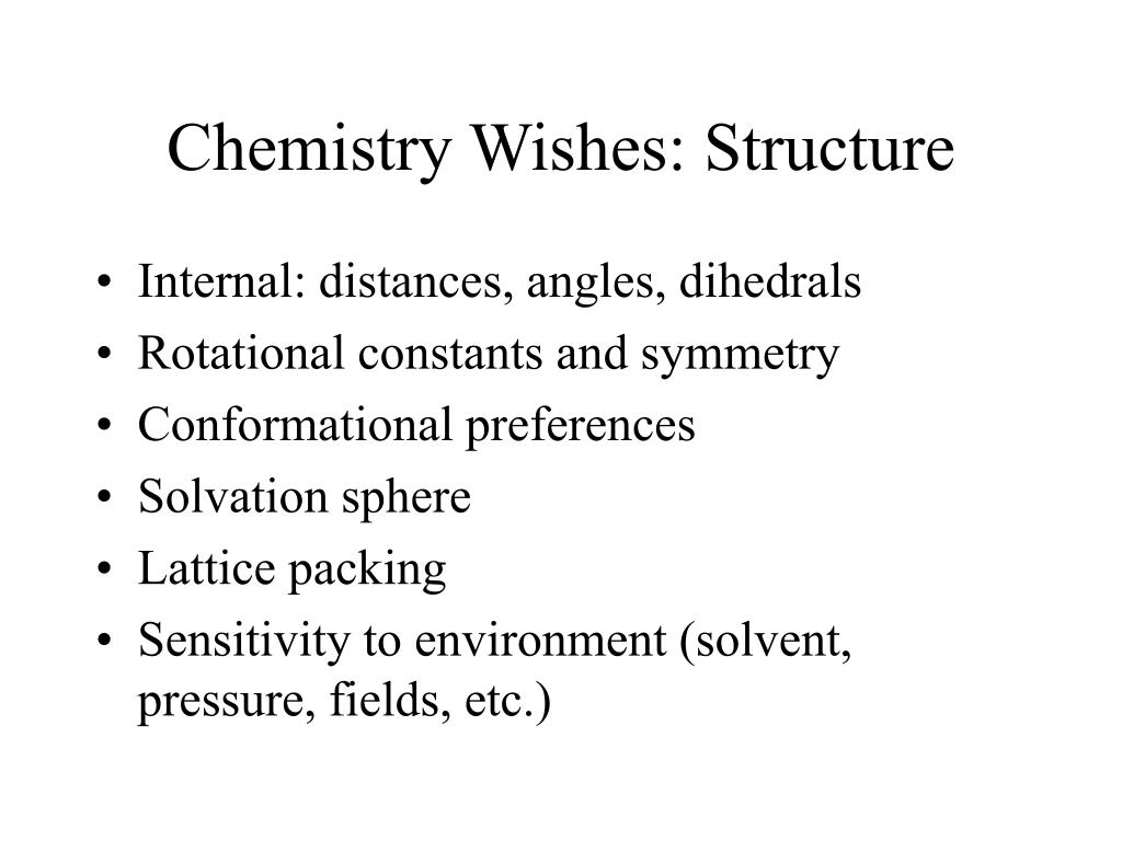 Chemistry Wishes: Structure