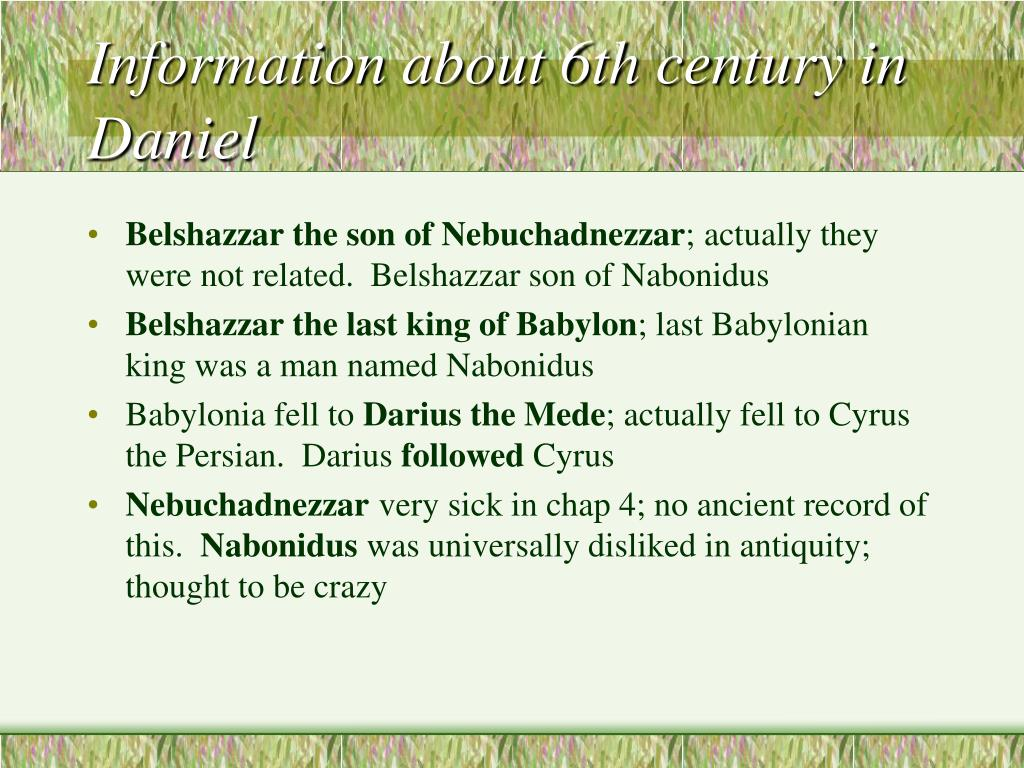 Information about 6th century in