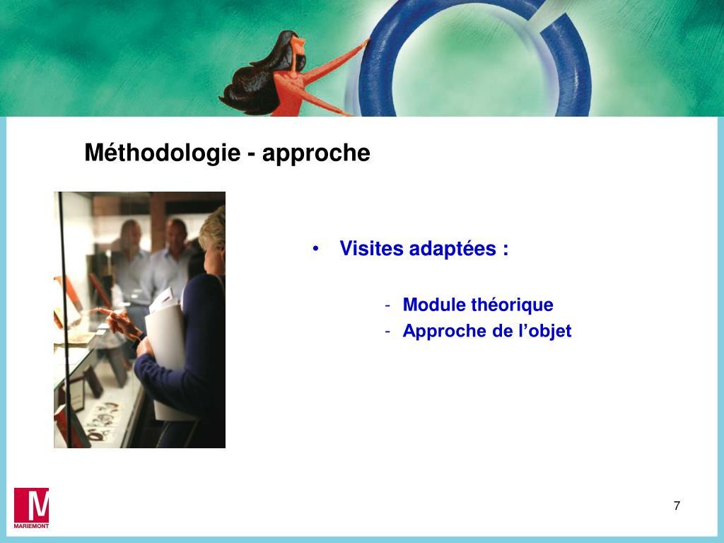 Méthodologie - approche