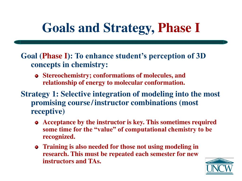 Goals and Strategy,
