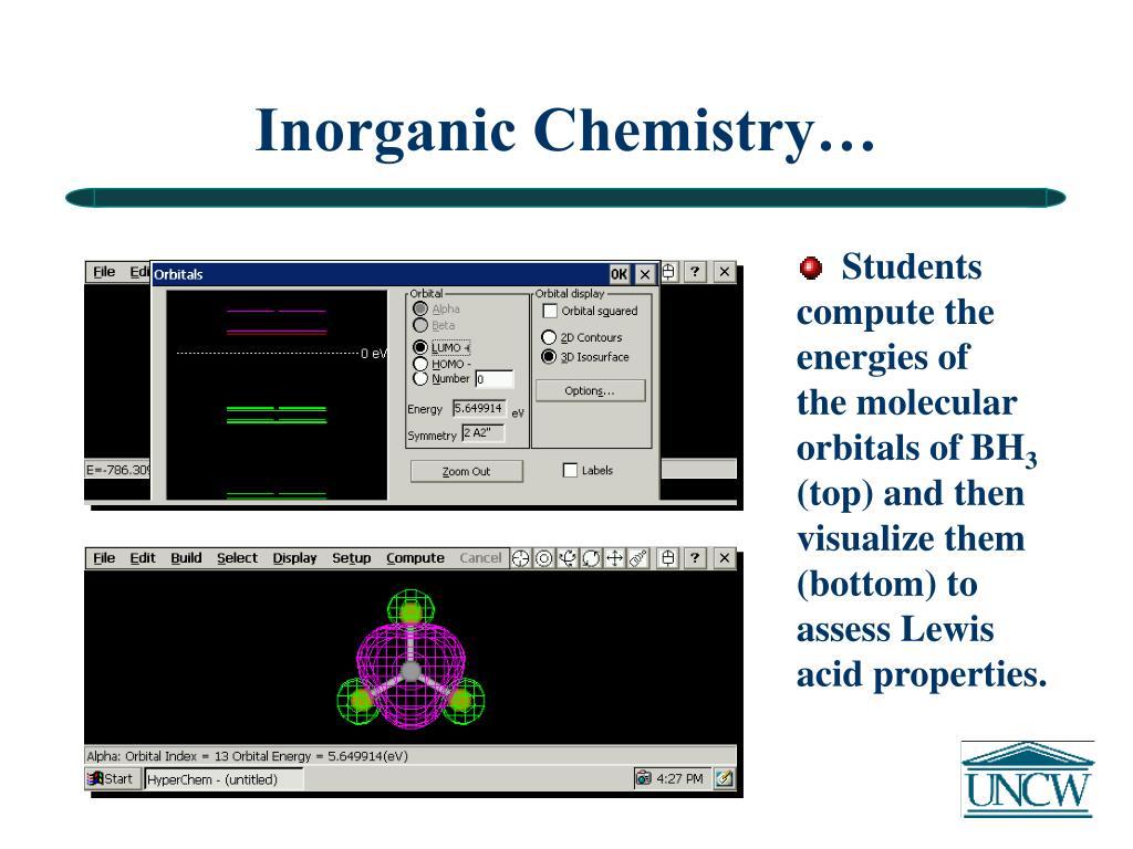 Inorganic Chemistry…