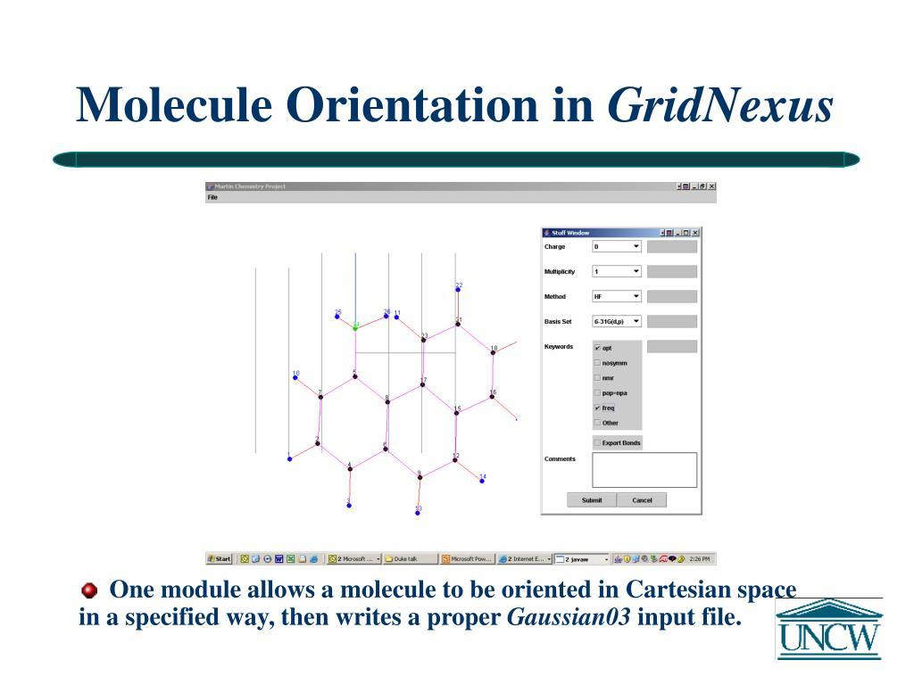 Molecule Orientation in