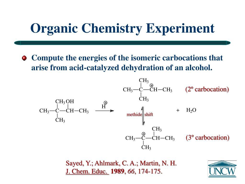 Organic Chemistry Experiment