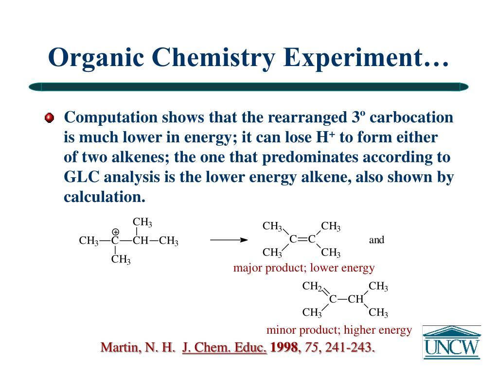 Organic Chemistry Experiment…